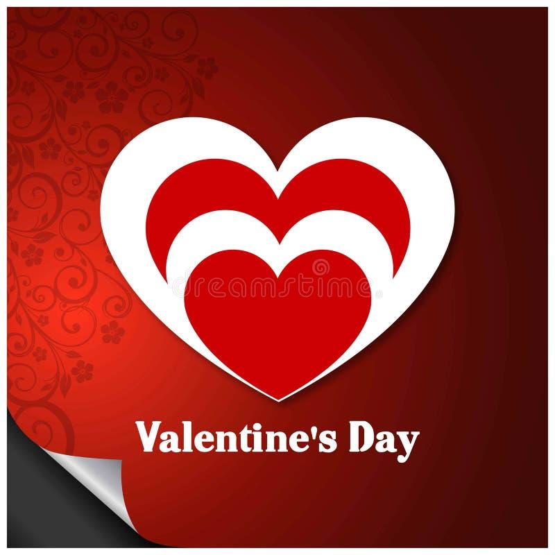 Walentynka, s dnia powitań karta z czerwień wzoru tła vecto ' ilustracji