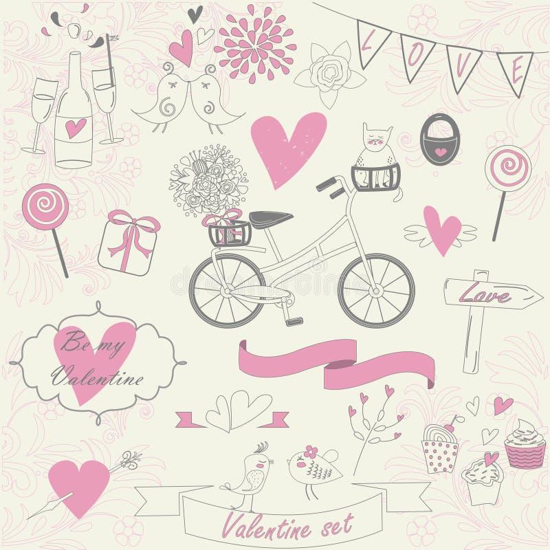Walentynka set ilustracja wektor