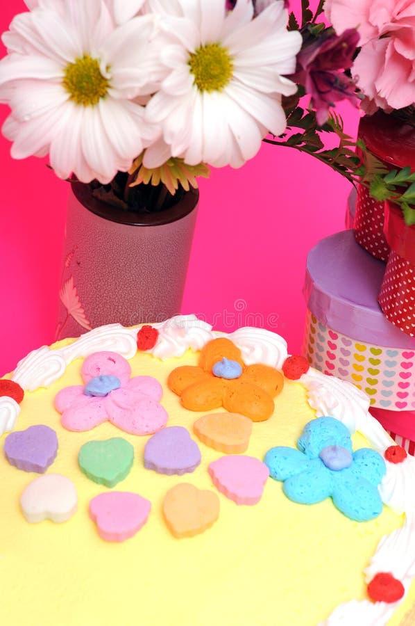 Walentynka tort obraz royalty free