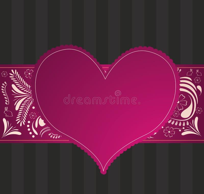 Download Walentynka wzór z sercem ilustracja wektor. Ilustracja złożonej z ilustracje - 28952268