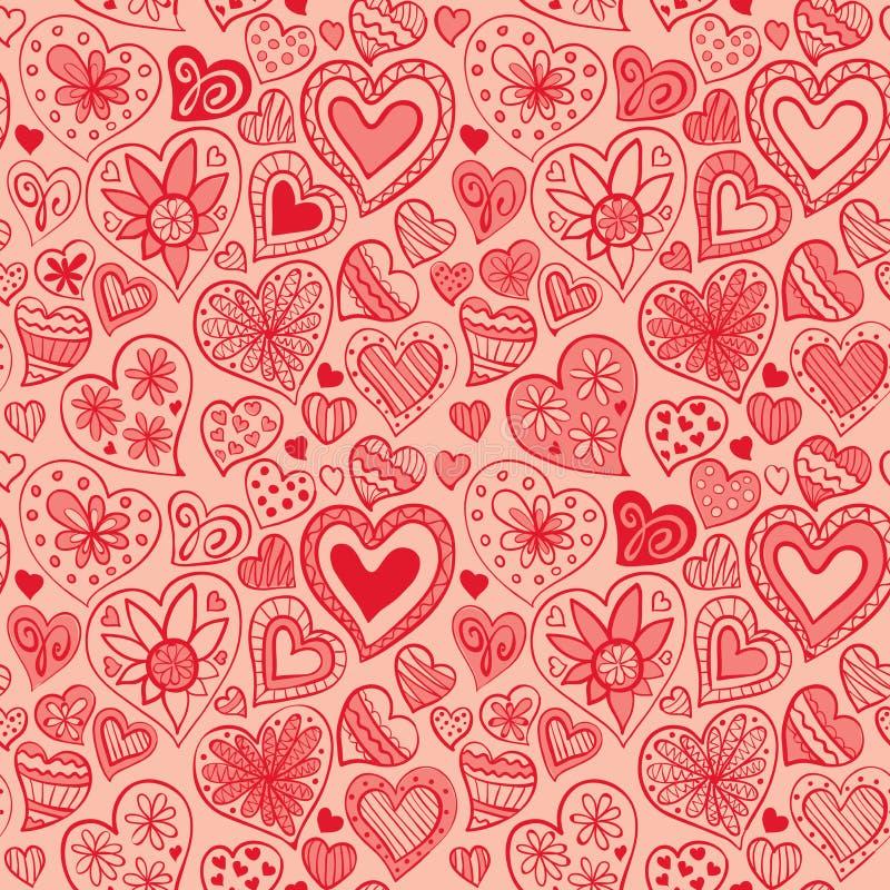 Walentynka wzór z sercem ilustracja wektor