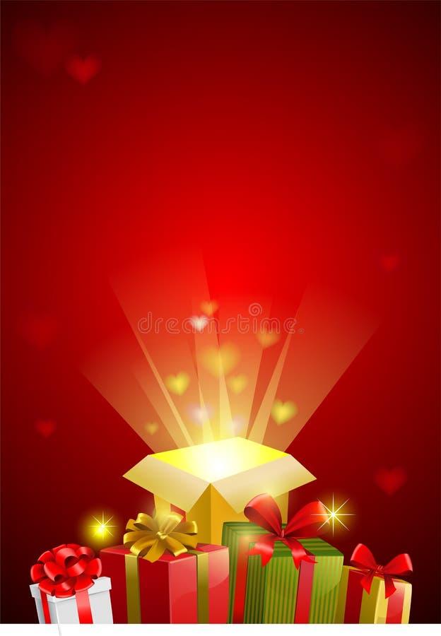 Walentynki świąteczny tło, wektorowy wizerunek ilustracji
