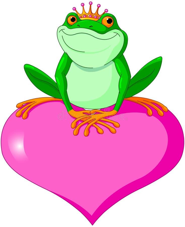 Walentynki żaba royalty ilustracja