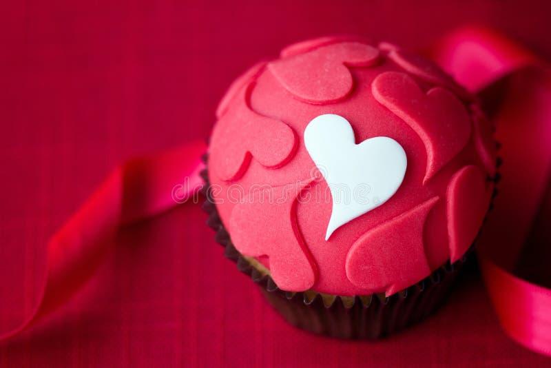 Walentynki babeczka obrazy stock