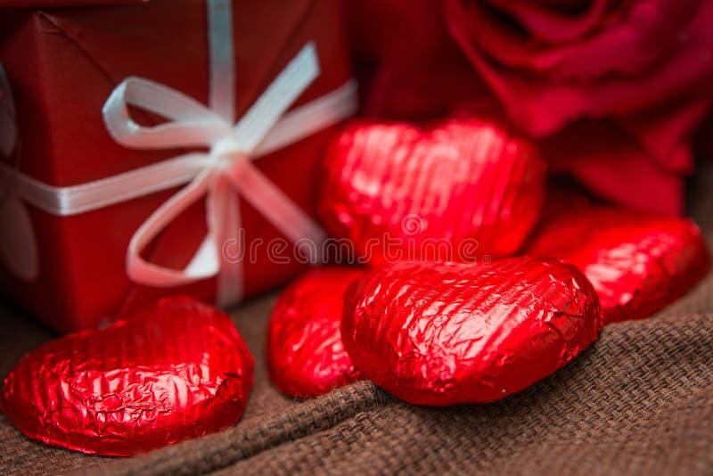 Walentynki czekolada obraz royalty free