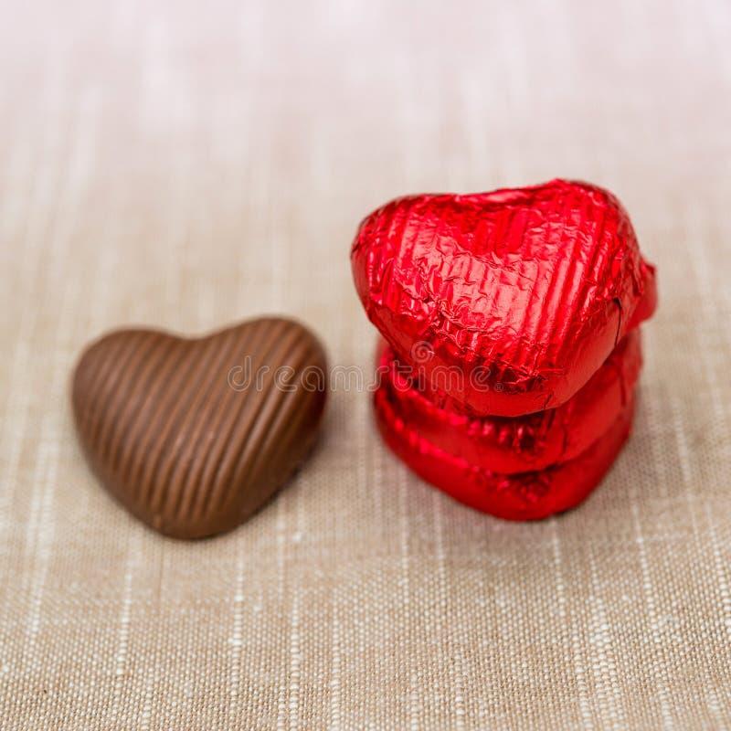 Walentynki czekolada fotografia royalty free