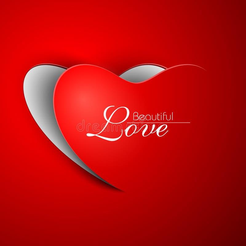 Walentynki czerwony Serce. ilustracji