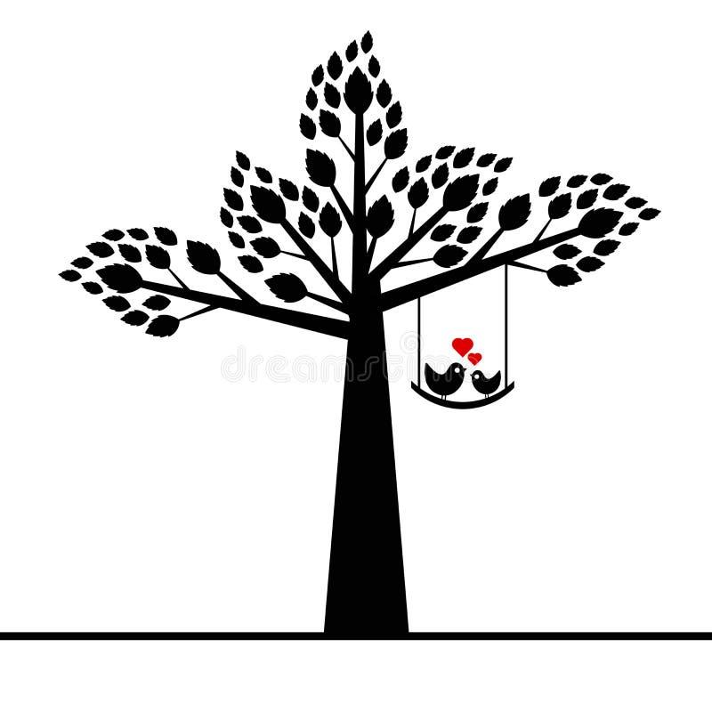 Walentynki drzewo royalty ilustracja