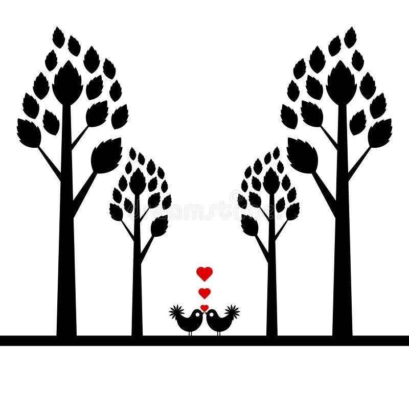 Walentynki drzewo ilustracji