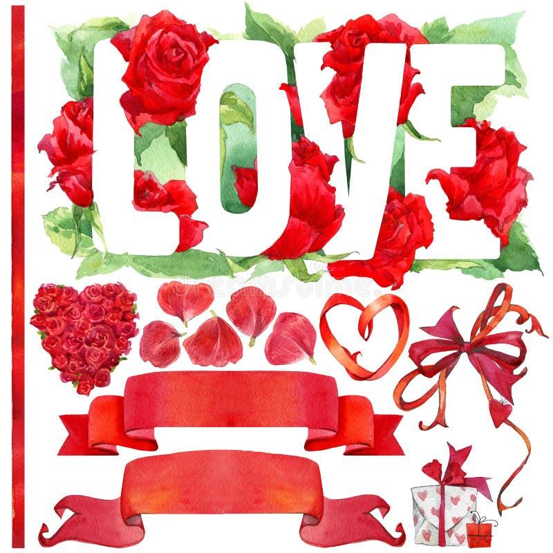 Download Walentynki Elementy Dla Dekoraci I Tło Ilustracji - Ilustracja złożonej z szczęśliwy, odosobniony: 53782456