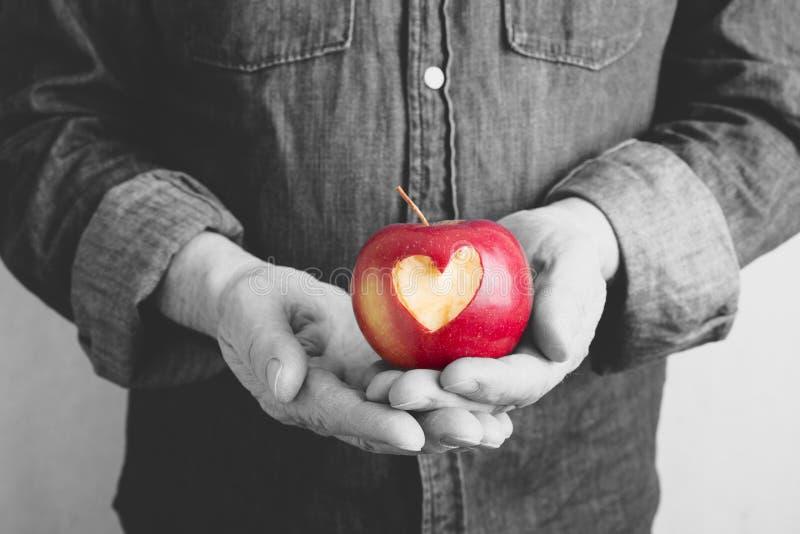 Walentynki jabłko zdjęcie stock