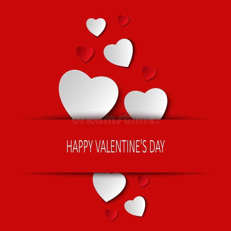 Walentynki karta z sercami chującymi royalty ilustracja