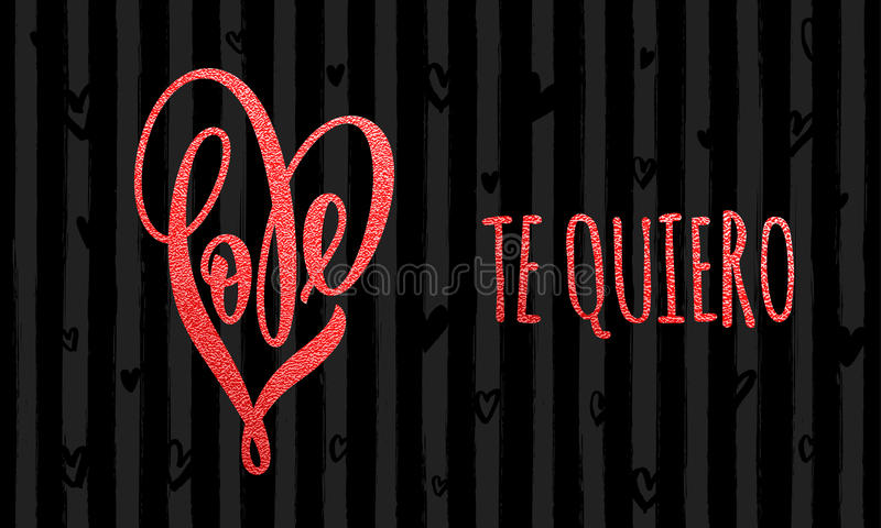 Walentynki miłości złocistej kierowej błyskotliwości deseniowa karta ilustracja wektor
