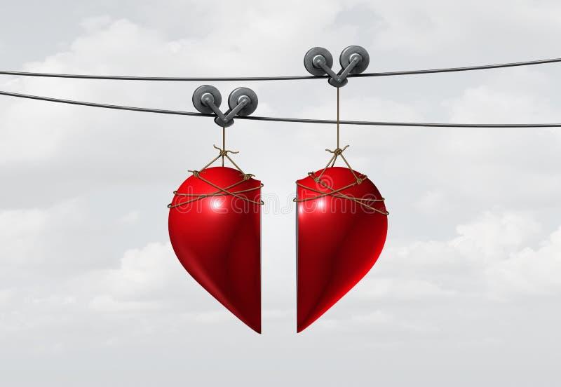 Walentynki miłości związek ilustracji