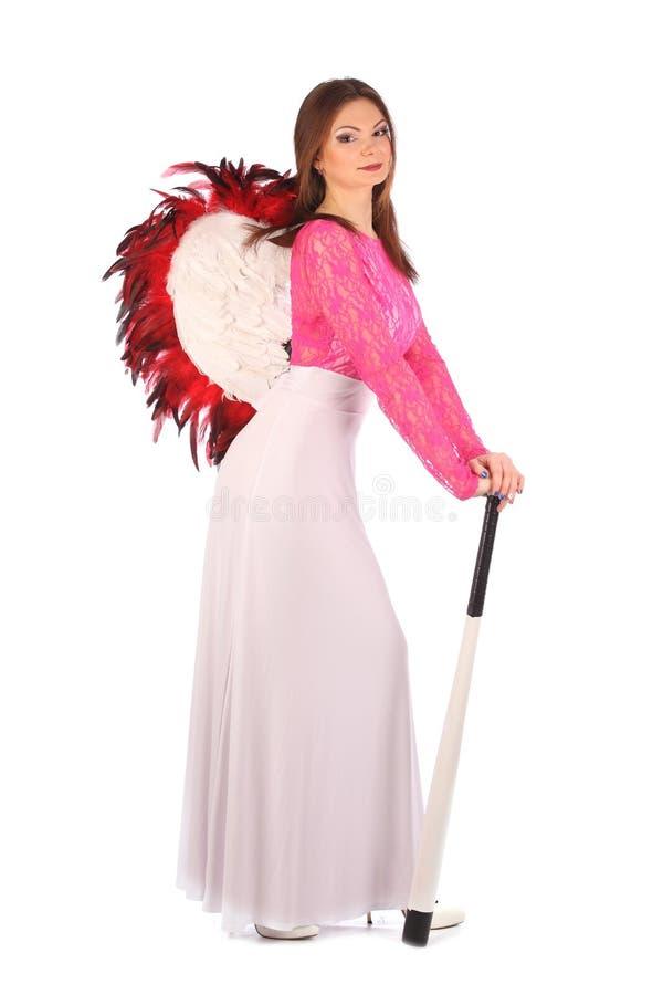 Walentynki piękna dziewczyna z wiatrami zdjęcie royalty free