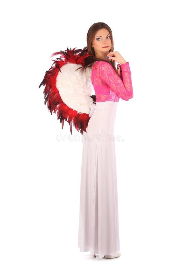 Walentynki piękna dziewczyna z wiatrami zdjęcie stock