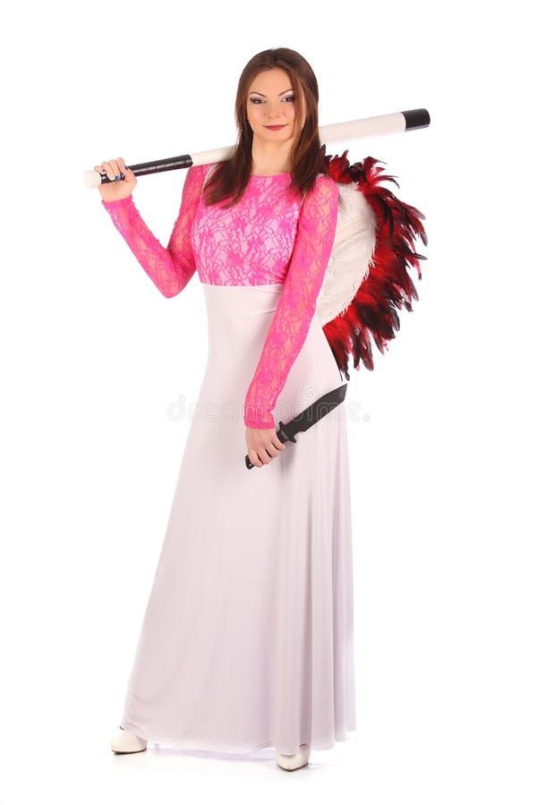 Walentynki piękna dziewczyna z wiatrami zdjęcia royalty free