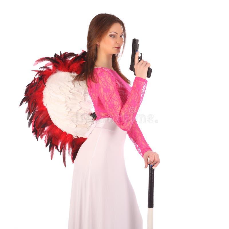 Walentynki piękna dziewczyna z wiatrami obrazy royalty free