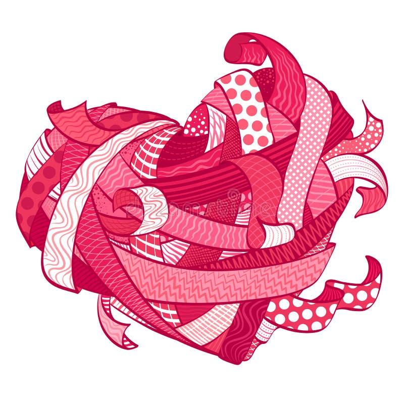 Download Walentynki Różowy Serce Robić Od Różnorodnych Faborków Ilustracja Wektor - Ilustracja złożonej z zamężny, honeymoon: 65225219