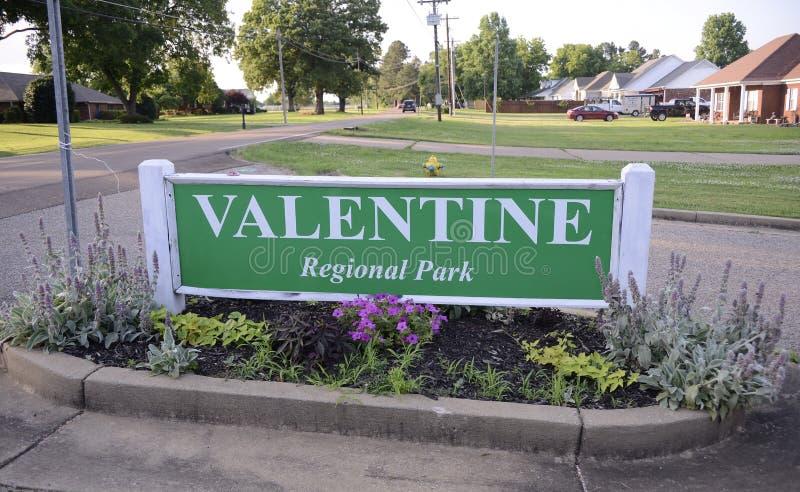 Walentynki regionalności park, Atoka, Tennessee obraz stock