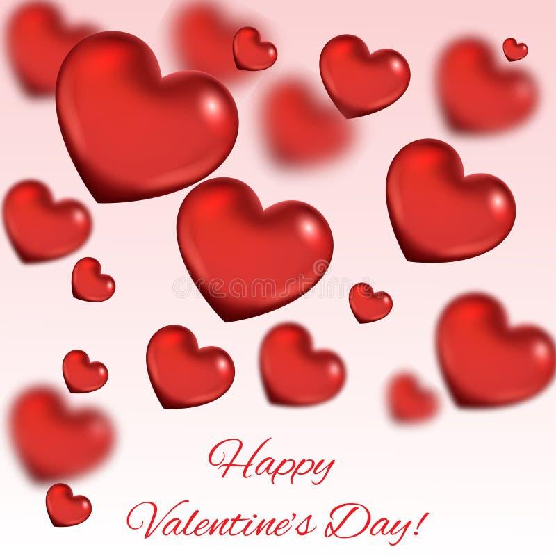 Walentynki ` s dnia abstrakcjonistyczny tło z sercami royalty ilustracja