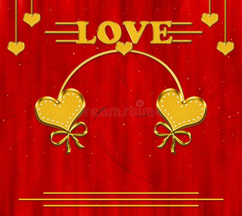 Walentynki s dnia karta ilustracja wektor