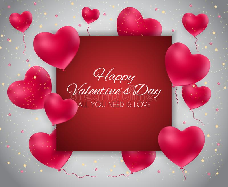 Walentynki ` s dnia Kierowa miłość i uczucia tła projekt również zwrócić corel ilustracji wektora ilustracji