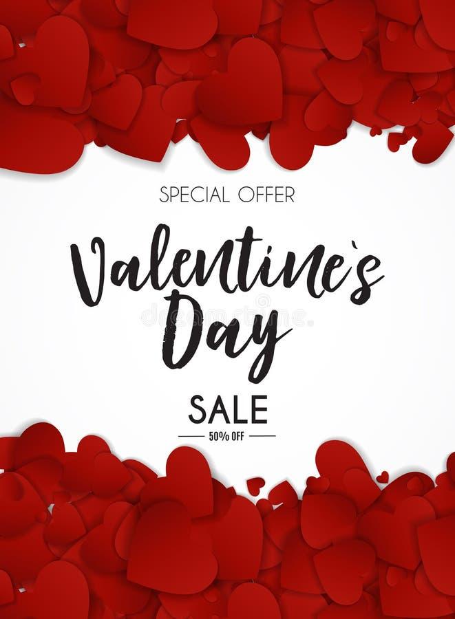 Walentynki ` s dnia miłości i uczucie sprzedaży tła projekt ilustracji