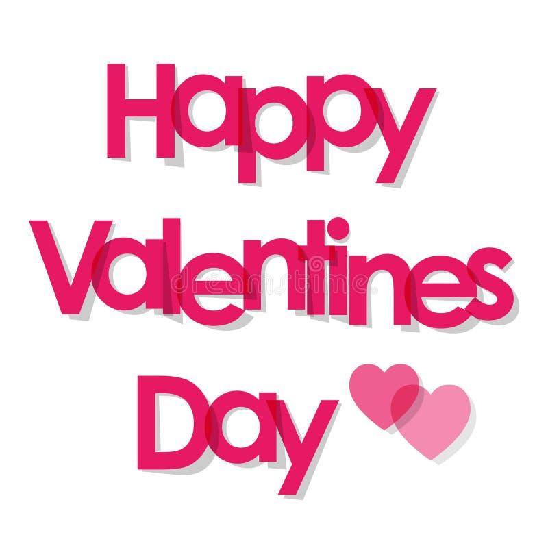 Walentynki ` s dnia pocztówki menchii listy z sercami na białym tle ilustracja wektor