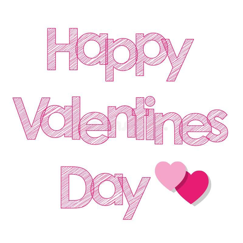 Walentynki ` s dnia pocztówki menchii listy z sercami na zmiętym papierowym brown tle royalty ilustracja