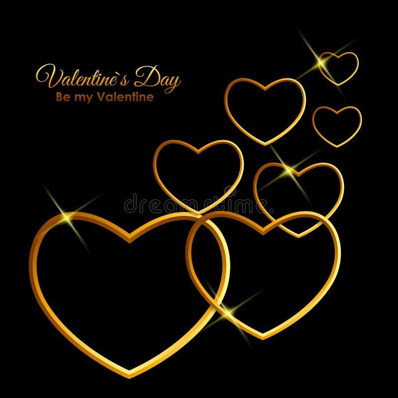 Walentynki ` s dnia serca symbol Miłości i uczuć tła projekt royalty ilustracja