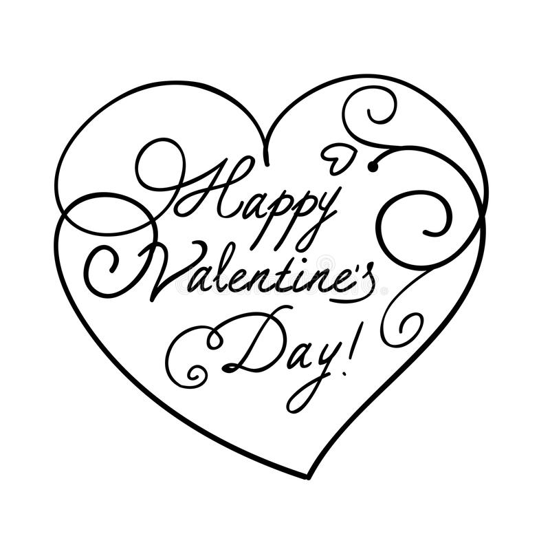 Walentynki ` s dnia serce ilustracja wektor