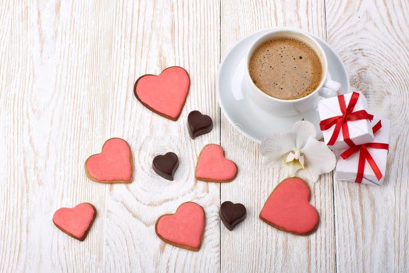 Walentynki ` s dnia skład fotografia stock