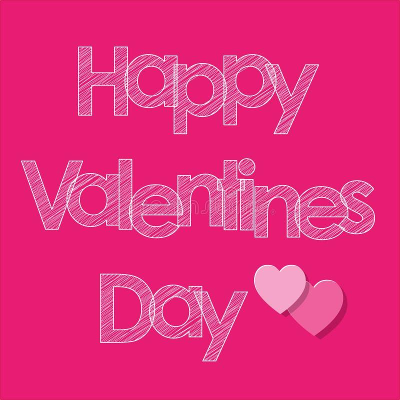 Walentynki ` s dnia skrobaniny pocztówkowi biali listy z sercami na różowym tle ilustracja wektor
