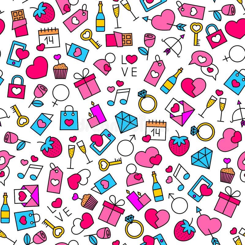 Walentynki ` s dnia tło royalty ilustracja