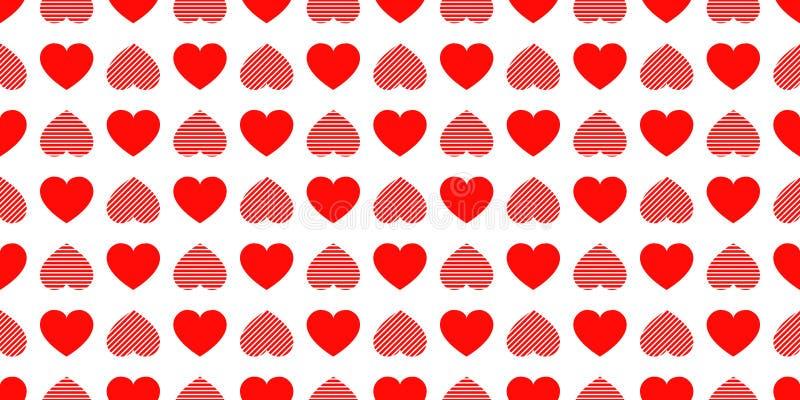 Walentynki ` s dnia tło Miłość serc ikon bezszwowy wzór Abstrakt częstotliwa tekstura Czerwoni serce symbole Dobry wybór dla ilustracja wektor