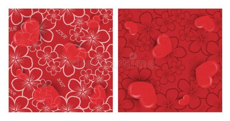 Walentynki ` s dnia wektor bezszwowy royalty ilustracja
