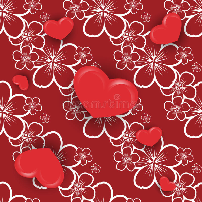 Walentynki ` s dnia wektor bezszwowy ilustracji