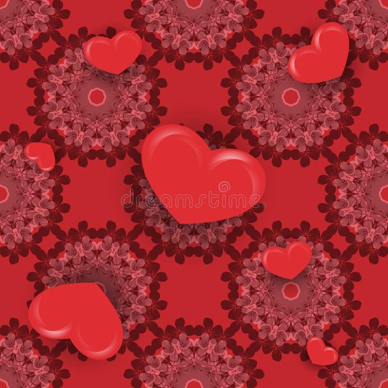 Walentynki ` s dnia wektor bezszwowy ilustracja wektor