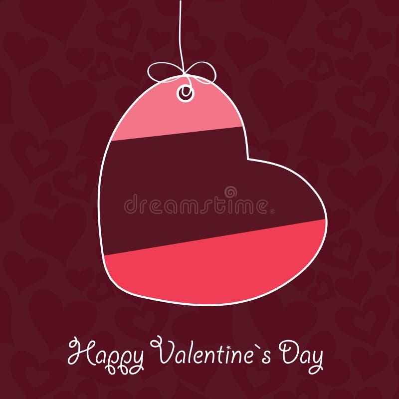 Walentynki `s Dzień karta royalty ilustracja