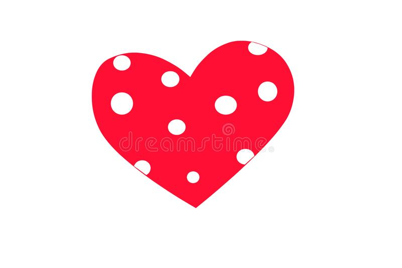 Walentynki ` s dzień ustawiający serca ilustracja wektor