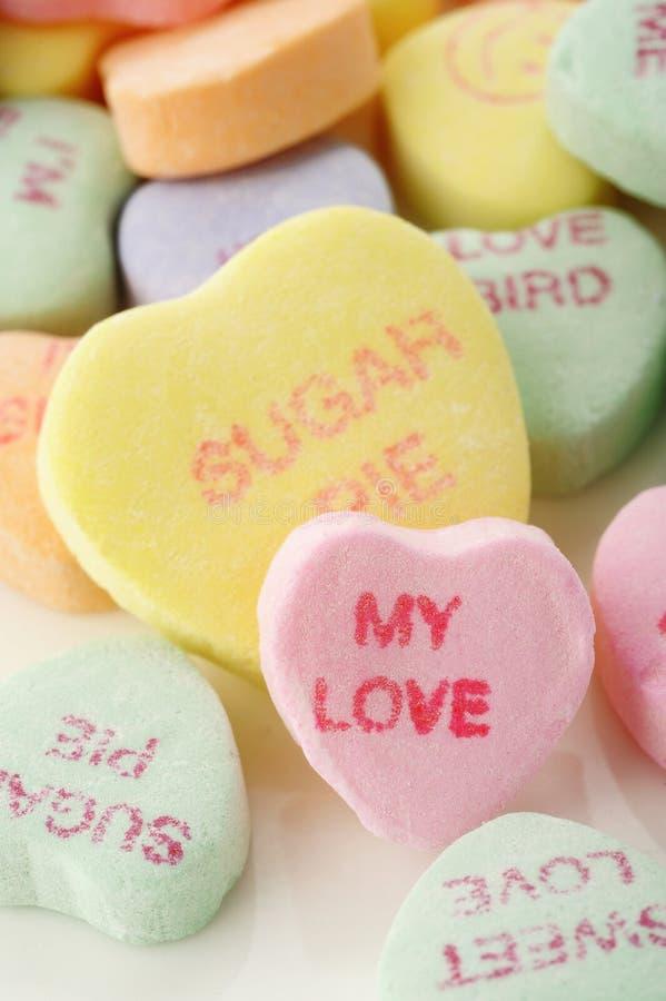 Walentynki serca cukierek fotografia stock