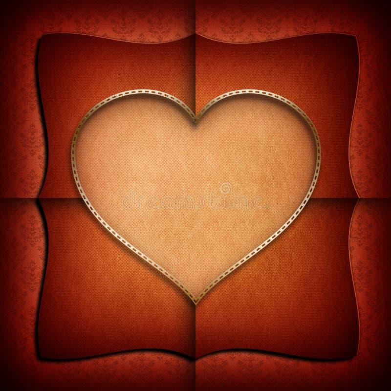 Walentynki tła szablon royalty ilustracja
