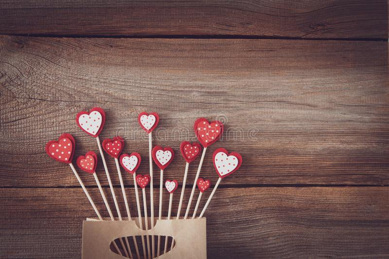 Walentynki tło z przestrzenią dla teksta fotografia royalty free
