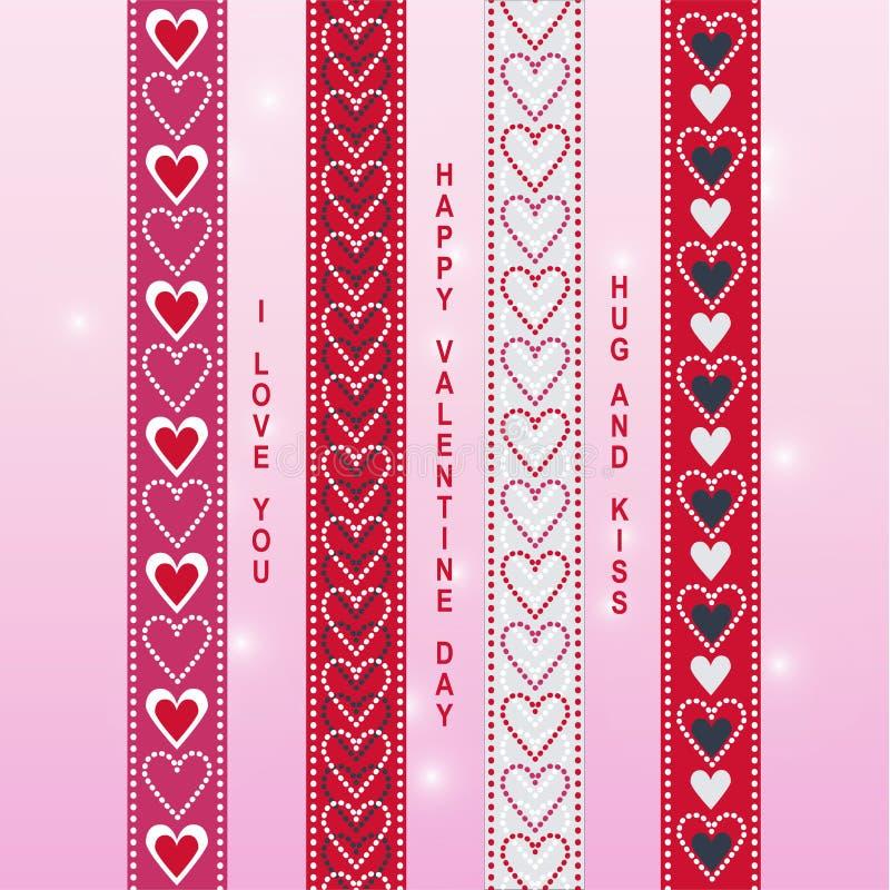 Walentynki tasiemkowy scrapbook 1 royalty ilustracja