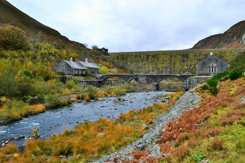 Wales Caban Coch Dam stock photo