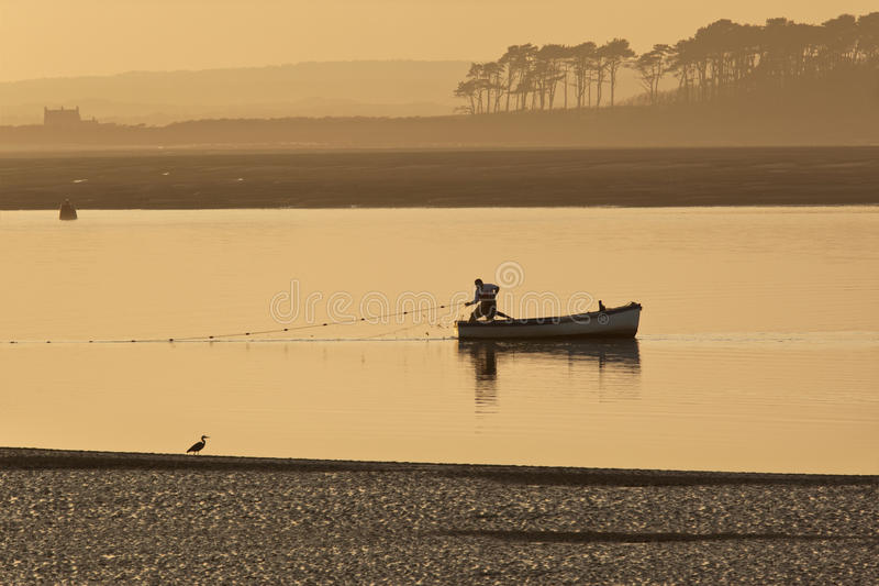 Wales - Caernarfon - Fishing royalty free stock images