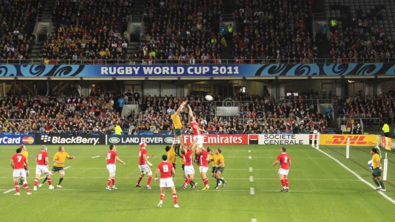 wales för Australien kopprugby kontra värld 2011 royaltyfria foton