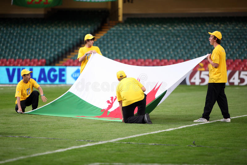 Download Wales Flag editorial photo. Image of match, stadium, dragon - 10882446