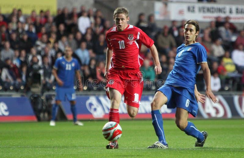Wales U21 v Italy U21 imagem de stock royalty free